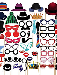 58Pcs Photo Booth Props Party Masks Hat Mustache Lip photobooth props Wedding Party Decoration Birthday Party