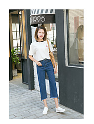 Women's High Rise High Elasticity Loose Pants,Vintage Relaxed Solid