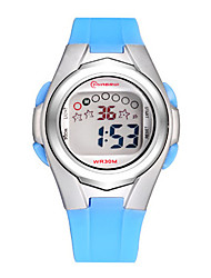 Kid's Sport Watch Fashion Watch Digital Water Resistant / Water Proof Rubber Band Blue Purple
