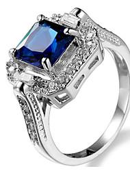 Damen Ringformen Bandringe Ring KubikzirkoniaBasis Einzigartiges Design Geometrisch Freundschaft Modisch bezaubernd individualisiert Rock