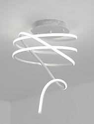Flush mount, característica de pintura moderna / comtemporária para lâmpada incluída sala de alumínio quarto sala de estudo / escritório 1