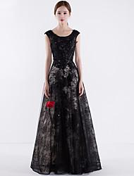 Vestido de baile de joalharia Comprimento do chão Vestido de noite formal com túnica