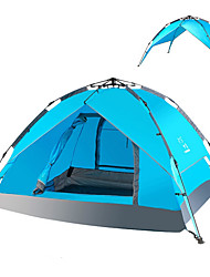 3-4 persons Tent Double Automatic Tent One Room Camping Tent >3000mm PU Camping & Hiking
