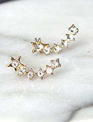 Women's Stud Earrings Rhinestone Fashion Euramerican Costume Jewelry Alloy Star Jewelry For Daily