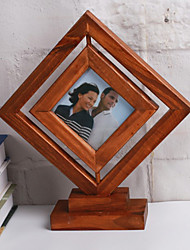 Picture Frames Casual Retro Novelty Wooden 1 Square Pine Table Desktop Decoration