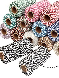 100 Yards Double Colour Cotton Cord/Hand Weaving DIY Dual-Strand Color Joint Rope/Cotton Cord
