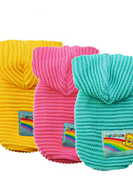 Dog Sweater Hoodie Dog Clothes Casual/Daily Solid Blushing Pink Blue Yellow