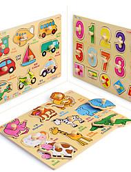 Jigsaw Puzzles Jigsaw Puzzle Building Blocks DIY Toys Square Wooden 3Pcs