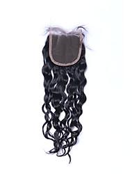 Qualité supérieure nouvelle mode 8a naturel naturel noir bouchons humains boucliers cheveux moulants gratuits / moyen / 3 partie 4 * 4