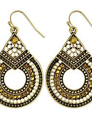 Women's Drop Earrings Basic Circular Unique Design Dangling Style Pendant Circle Friendship Movie Jewelry Bikini Luxury Fashion Statement