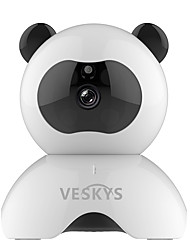 VESKYS® 960P Smart Panda WiFi IP Security Surveillance Camera (1.3MP HD/2017 Cute Panda Model)