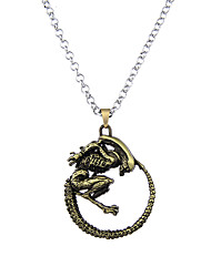 Lureme Vingate Jewelry Alien vs. Predator 3D Saucerman Pendant Necklace for AVP Fans