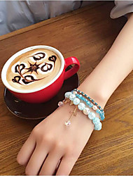 Women's Bangles Crystal Natural Fashion Crystal Rhinestone Alloy Circle Star Jewelry ForWedding Party Special Occasion Halloween