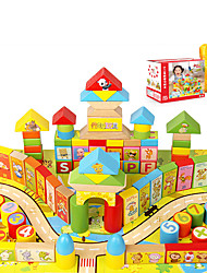 Building Blocks Jigsaw Puzzle For Gift  Building Blocks Wooden 1-3 years old 3-6 years old Toys 100Pcs