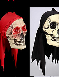 Halloween Decoration Items Those Trick Trick Toys Eyes Will Glow Red Scarf Skulls Wacky Props Terror   Color Random