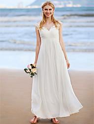 Corte en A Joya Hasta el Tobillo Raso Vestido de novia con Apliques En Cruz Fruncido por LAN TING BRIDE®