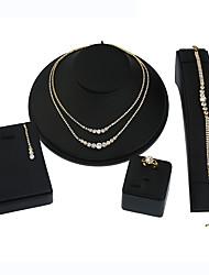 Жен. Ожерелье / серьги Свадебные комплекты ювелирных изделий Стразы Геометрический Multi-Wear способы Металлический сплав Стразы