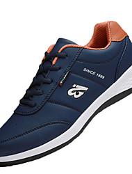 Для мужчин Спортивная обувь Беговая обувь Удобная обувь Полиуретан Весна Осень На плоской подошве Белый Черный Синий На плоской подошве