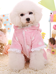 Dog Hoodie Dog Clothes Keep Warm Lace