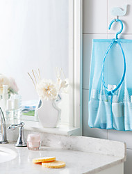 1Pcs  Multi-Function Space Saving Hanging Mesh Bags Clothes Organizer For Bedroom Or  Bathroom Random Color