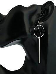 Women's Drop Earrings Dangling Style Ferroalloy Circle Geometric Jewelry For Dailywear Casual Stage