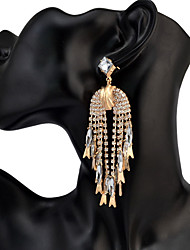 Women's Drop Earrings Acrylic RhinestoneBasic Unique Design Pendant Tassel Rhinestones Friendship Multi-ways Wear Cute Style Euramerican