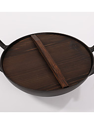 1Piece/ two ears cast iron pan 28cm pig iron pan thickened without chemical coating physical non stick pot
