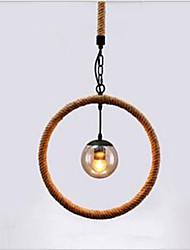 Hemp - Rope Chandelier Cafe Chandelier Bar Style American Country Hand-Made