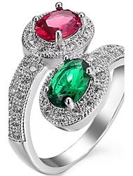 Ring Settings Ring  Luxury Elegant Noble Zircon  Women's Oval  Creative Rhinestone Euramerican Fashion Birthday Wedding Movie Gift Jewelry
