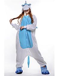 Kigurumi Pijamas nueva Cosplay® Unicorn Leotardo/Pijama Mono Festival/Celebración Ropa de Noche de los Animales Halloween Azul Piscina