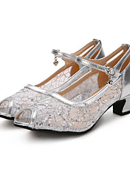 Women's Modern Lace Sparkling Glitter Paillette Heels Sneakers PerformanceSequin Ruffles Buckle Stitching Lace Ruched Sparkling Glitter
