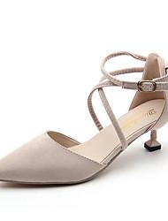 Women's Sandals Comfort Flocking PU Winter Casual Comfort Black White 2in-2 3/4in