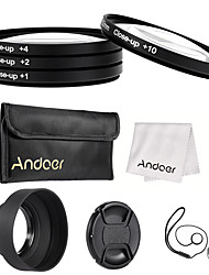 Andoer 52mm Close-up Macro Lens Filter Set(1 2 4 10) with Lens Accessories