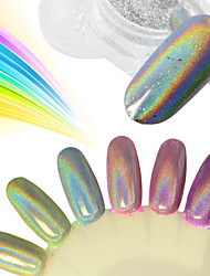 0.2g/Bottle Nail Glitter Powder Rainbow Chrome Holographic Pigment Colorful Powder Nail Art Galaxy Effect DIY Beauty Decorations SL0602-X02