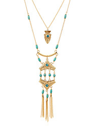Women's Choker Necklaces Pendant Necklaces Ferroalloy Bead Metal Alloy Resin Rhinestone Metallic Multi-ways Wear Statement Jewelry Jewelry