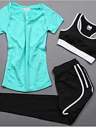 Women's Short Sleeve Running Compression Clothing Tracksuit Underwear Clothing SuitsCycling Fitness, Running & Yoga Help to lose weight