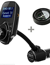 T10 Car Kit Handsfree FM Transmitter Car MP3 Audio Player with LCD Display USB 5V 2.1A Charger Support TF Card