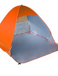 2 Personen Zelt Einzeln Falt-Zelt Einzimmer Camping Zelt 1000-1500 mm Silber Band Camping & Wandern Regendicht Staubdicht Zelt-Camping &