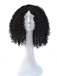 African Black Wig Head Hood Black Small Wig 18inch