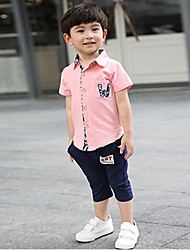 Для мальчиков Наборы Хлопок Мода Мультфильмы Лето С короткими рукавами Набор одежды