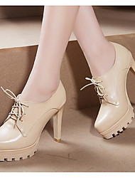Women's Heels Basic Pump Real Leather Fall Winter Casual Basic Pump Almond Black Under 1in