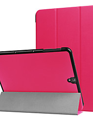 Для крышки корпуса с подставкой автоматический сон / просвет полупрозрачный оригами полный корпус корпус сплошной цвет твердая кожа pu для