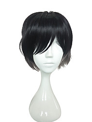 Capless Cosplay Wigs Short Straight Anime Cosplay Wigs 12 inch Heat Resistant Fiber Wig