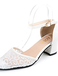 Feminino Sandálias Rústico Fashion Conforto Tule Couro Ecológico Primavera Verão Diário Para Noite Social Rústico Fashion ConfortoSalto