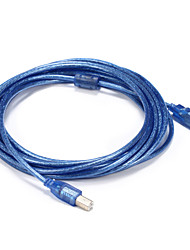 USB 2.0 Cable, USB 2.0 to USB tipo B Cable Macho - Macho 5,0 m (16 pies)