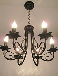 European Style Simplified Chandelier  Bedroom Restaurant  Wrought Iron Candle Lamp Living Room Lamp Decorative Lamp