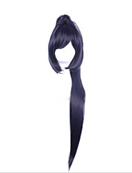 Synthetic Wigs Cosplay Onmyoji Long Straight Navy Wig for Women Costume Wigs Capless Wigs