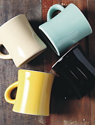 Ceramic Large Capacity Mugs Couple Cups Breakfast Cups 380ml