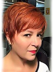 Освежающий пушистый наклонный бахрома короткие прямые человеческие волосы парики