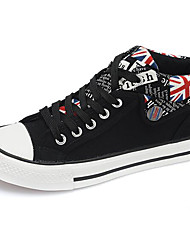 Damen Schuhe Stoff Frühling Komfort Sneakers Für Normal Schwarz Rot Blau